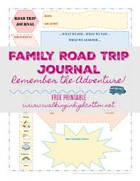 printable vacation journal pages family road trip journal using smashbooks free printable travel