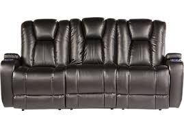 Power Recline Sofa 1 399 99 Kingvale Black Power Reclining Sofa Contemporary