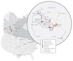 Pipeline Map Of North America by Pembina Our Operations