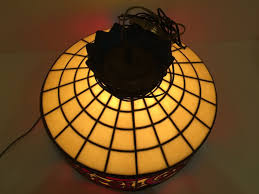 vintage stained glass hanging light fixture all about lamps ideas