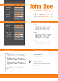 Resume Template Layout Design Creative Resume And Cover Letter Template A4 Portrait