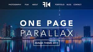 avada theme portfolio order parallax tutorial 2017 learn how to create a website ferdy