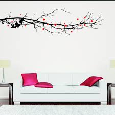 large tree branch with leaves wall sticker chimp large tree branch with leaves wall sticker