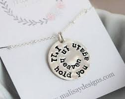 Personalized Memorial Necklace Grief Jewelry Etsy
