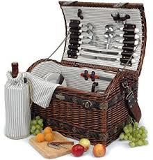Wine Picnic Basket Amazon Com Picnic Time U0027verona U0027 Insulated Wine Basket With Wine