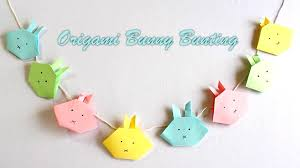 easter crafts how to make an origami bunny bunting youtube