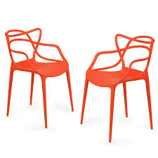 joveco modern abstract designed dining room chairs set of two