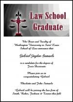 school graduation announcements for new lawyers