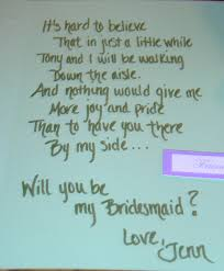 will you be my bridesmaid poem bridesmaid invitation cards
