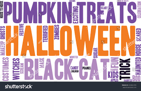 free halloween background for word halloween word cloud on white background stock vector 323081270
