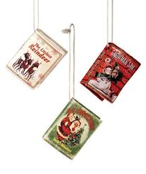 mini retro book ornaments bethany lowe decorations