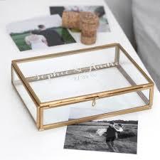 wedding keepsake box personalised glass wedding rectangular keepsake box allen