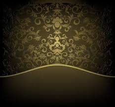 decorative design background with floral golden ornament stock