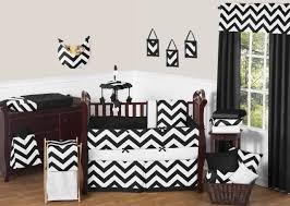 Black And White Crib Bedding Set Black And White Chevron Zigzag Baby Bedding 9pc Crib Set By Sweet
