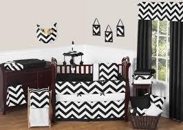 Black And White Crib Bedding Sets Black And White Chevron Zigzag Baby Bedding 9pc Crib Set By Sweet