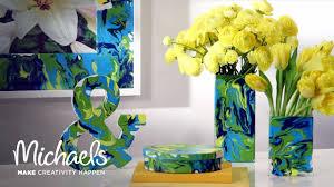 martha stewart u0027s craft paint marbling michaels youtube