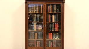 Ikea Billy Bookcase Glass Door Bookcase Traditional 6 Shelf Bookcase With Glass Doors In Queen