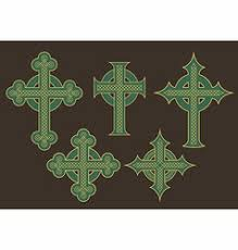 ornate celtic cross royalty free vector image vectorstock