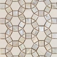 Hexagon Tile Kitchen Backsplash Victoria Hexagon Pearl White Thassos Marble And Pearl Shell Glass