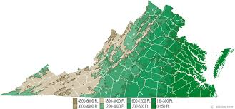map of virginia virginia physical map and virginia topographic map