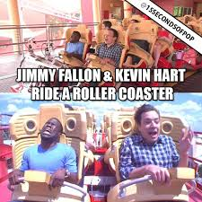 Roller Coaster Meme - jimmy fallon kevin hart ride a roller coaster 15secondsofpop