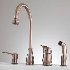 Widespread Kitchen Faucet Barrow Widespread Kitchen Faucet With Spray And Soap