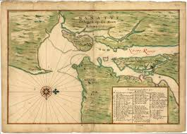 Hudson River Map Map Of The Mouth Of The Hudson By Vingboons 1639