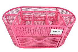 red office desk accessories amazon com yaekoo desk organizer caddy features elegant red mesh