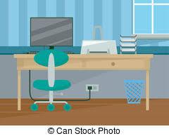 bureau clipart workplace perspective intérieur maison bureau clipart