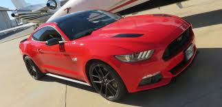 Black Mustang Red Stripes Rad Mustang Packages