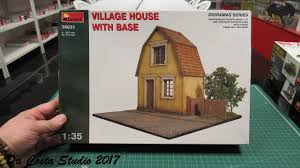 miniart village house with base in box review youtube