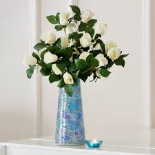 accessories cozy glitter blue mosaic plant pots for indoor flower