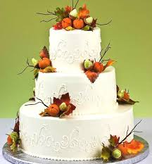 fall wedding cake toppers fall themed wedding cake with scroll pattern scattered bunches