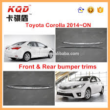 toyota corolla 2014 accessories front rear bumper plate trims of