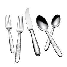 Modern Flatware Sets by Yamazaki Summersby 45 Piece Satin Silver Stainless Steel Flatware
