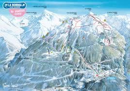 Alps On A Map Plan Des Pistes Ski Map Ski Kaart La Norma Ski Resort
