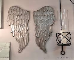 Wings Wall Decor Angel Wing Wall Art Carved Wood Look Lucy Designs
