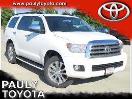 suv toyota sequoia new toyota sequoia in crystal lake pauly toyota