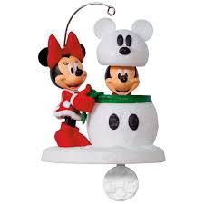 disney mickey and minnie snowmouse ornament keepsake