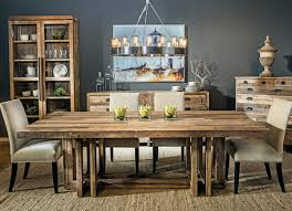 Rustic Wood Dining Room Table Traditional Dining Room With Rustic Wood Dining Set Home Modern