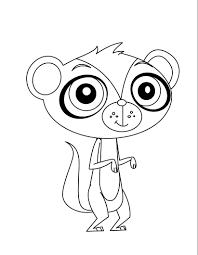 littlest pet shop horse coloring pages in to color online