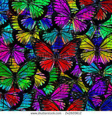 rainbow watercolor background butterflies seamless background