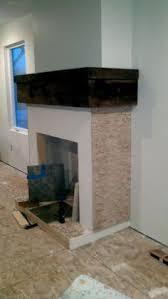 Travertine Fireplace Tile by Jennifer Taylor Design Glynwood Family Room Mosaic Travertine