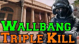 triple wallbang kill with iq rainbow six siege youtube