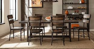 7 Pc Dining Room Sets Hillsdale 7 Dining Set Walnut Wood Brown Metal Hd