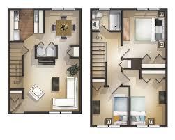 townhouse design ideas wohndesign überraschend 3 bedroom mod 25 more 3d floor plans