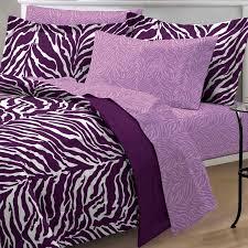 Zebra Bedroom Set Purple Zebra Bedding Twin Xl Full Queen Teen Bed In A Bag