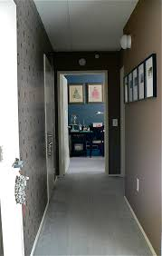 entrance hallway wallpaper or decals on one side paint on the