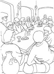 The Last Supper Coloring Page Free The Last Supper Online Last Supper Coloring Page