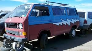 volkswagen westfalia 2015 junkyard find 1983 volkswagen vanagon steal your face edition